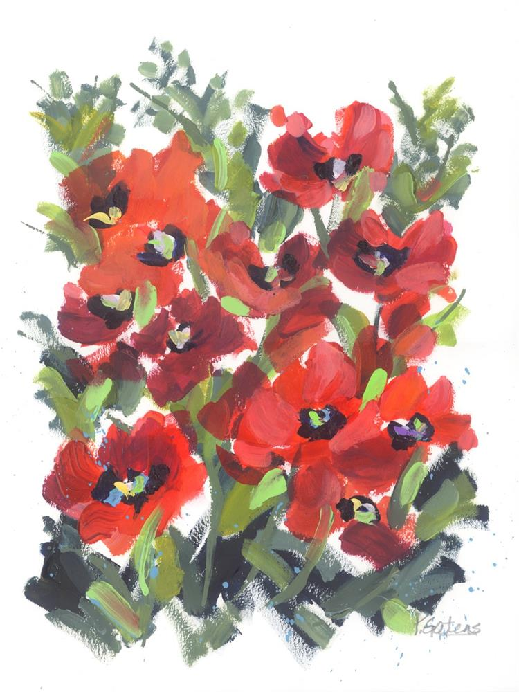 """Wild Red Poppies"" original fine art by Pamela Gatens"