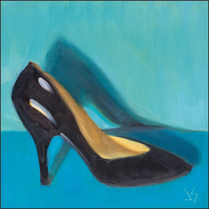 """30in30 – H 4 High Heel on Deck"" original fine art by Johnna Schelling"