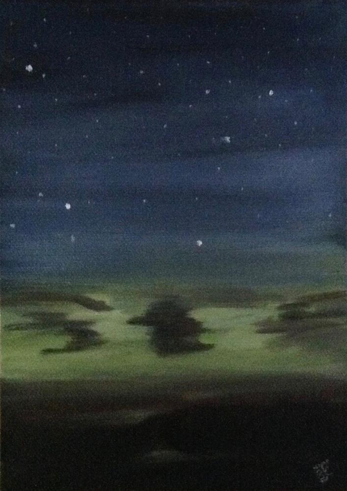 """Night Fall"" original fine art by Bobbie Cook"