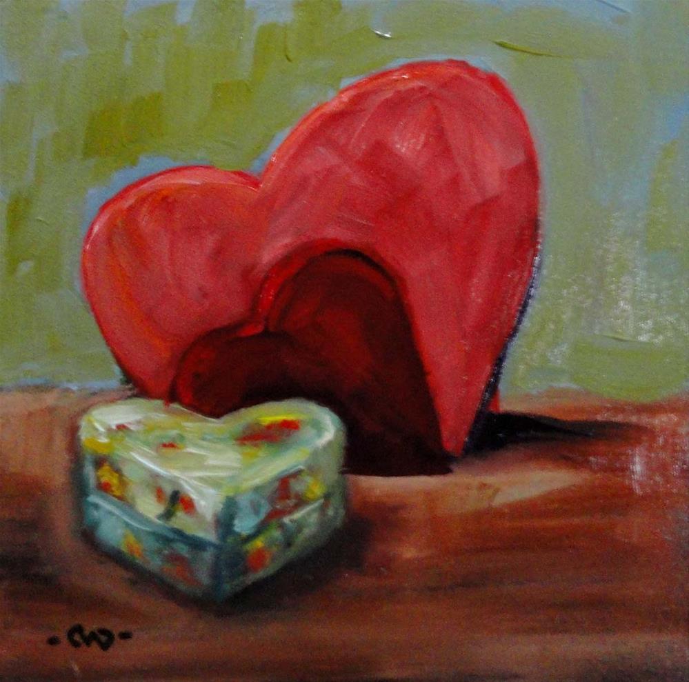 """Hearts"" original fine art by Cietha Wilson"