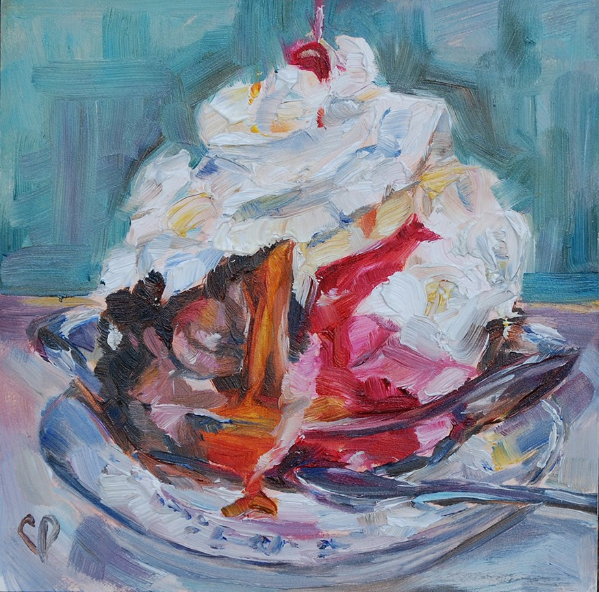 """With a Cherry on Top"" original fine art by Carol DeMumbrum"