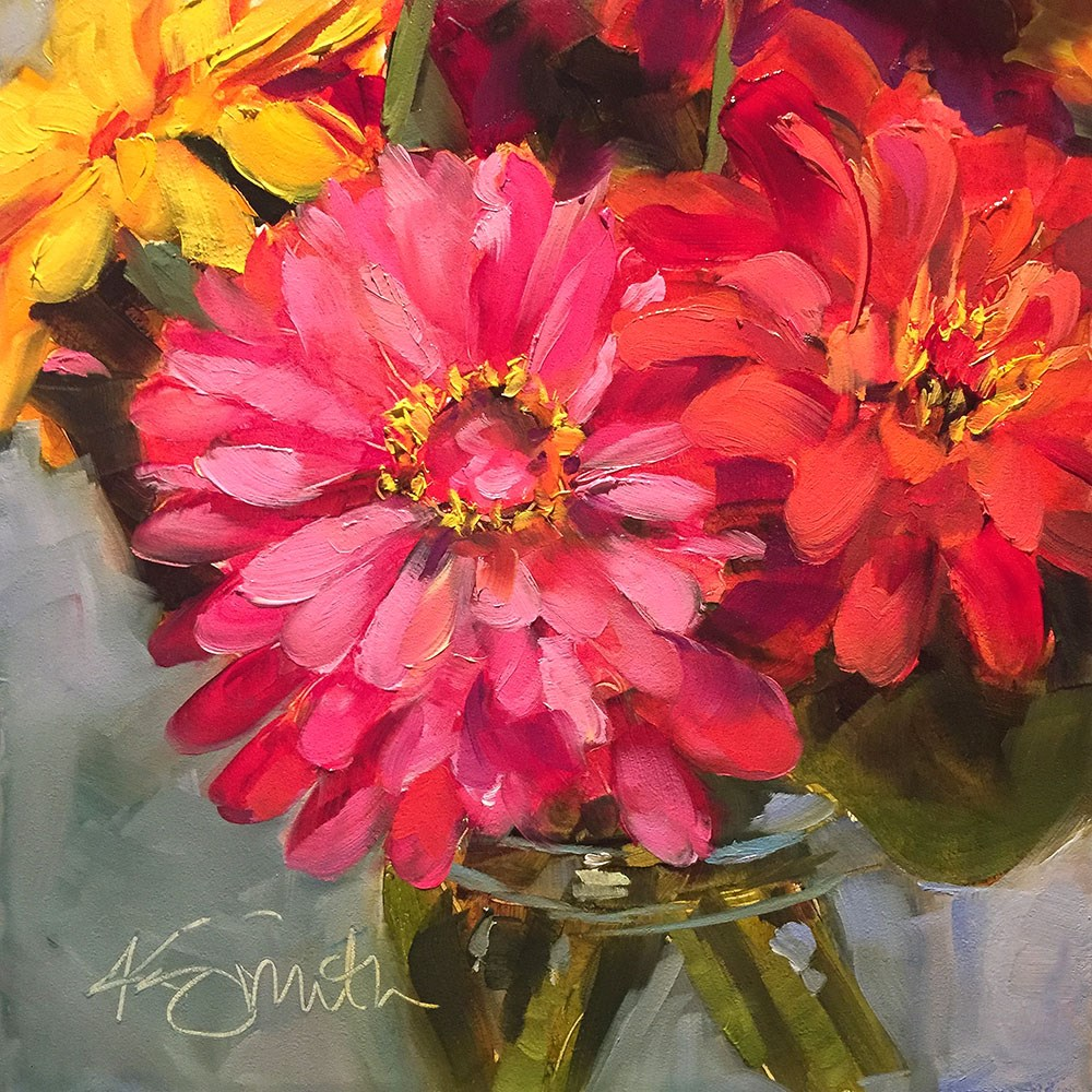 """happy"" original fine art by Kim Smith"