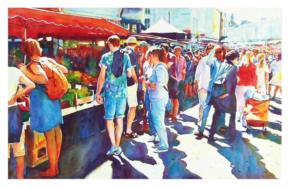 """Portobello Road."" original fine art by Graham Berry"