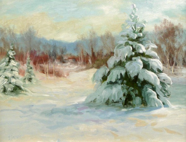 """Winter Morning"" original fine art by Susan N Jarvis"