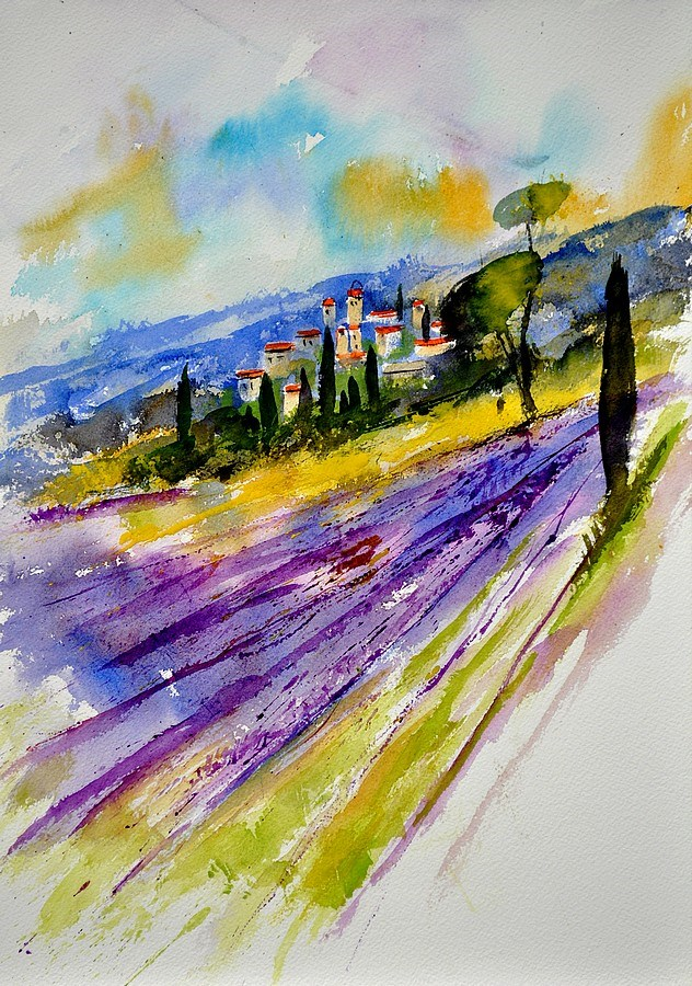 """watercolor provence 45"" original fine art by Pol Ledent"