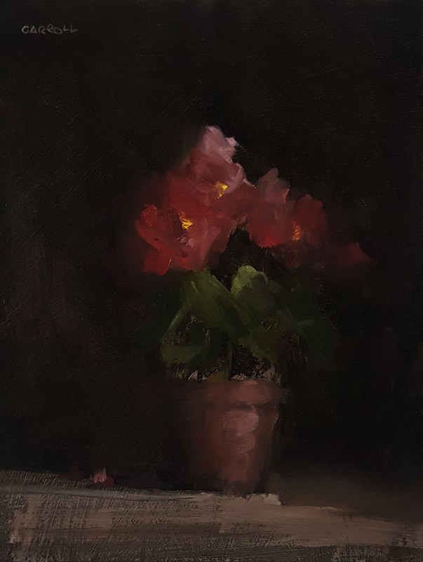 """Begonias"" original fine art by Neil Carroll"