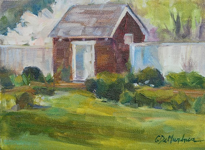 """Stroll through the Garden"" original fine art by Carol DeMumbrum"