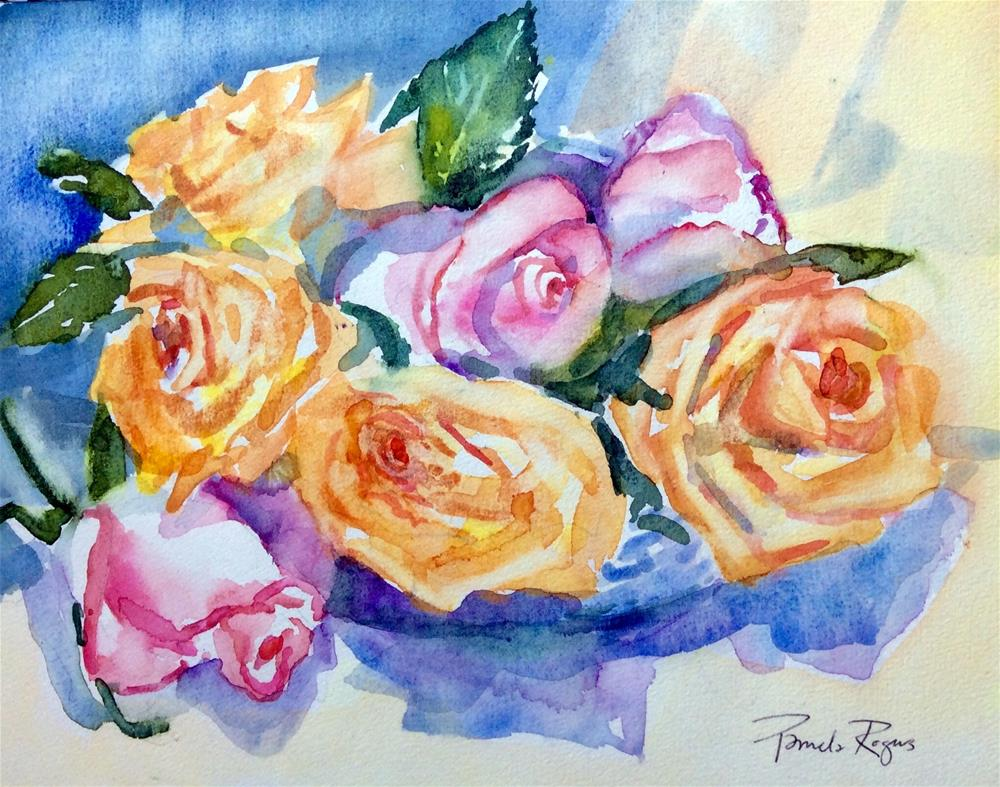 """Roses 2015"" original fine art by Pamela Jane Rogers"