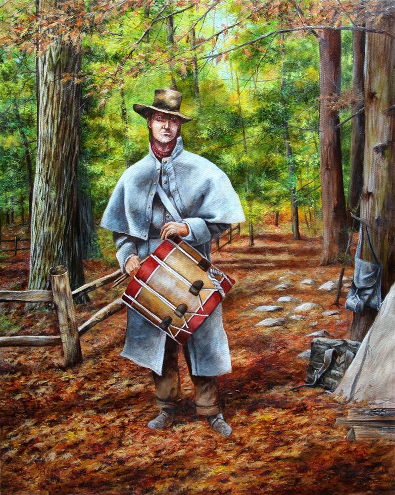 """Confederate Drummer"" original fine art by Aaron Grabiak"