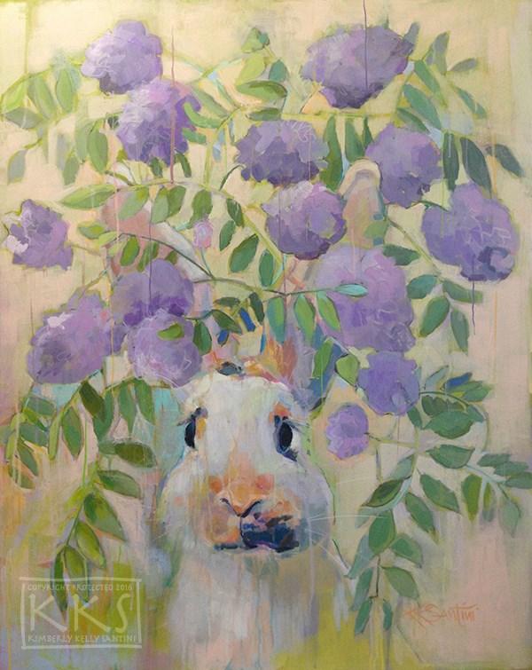 """Wisteria, Finished"" original fine art by Kimberly Santini"