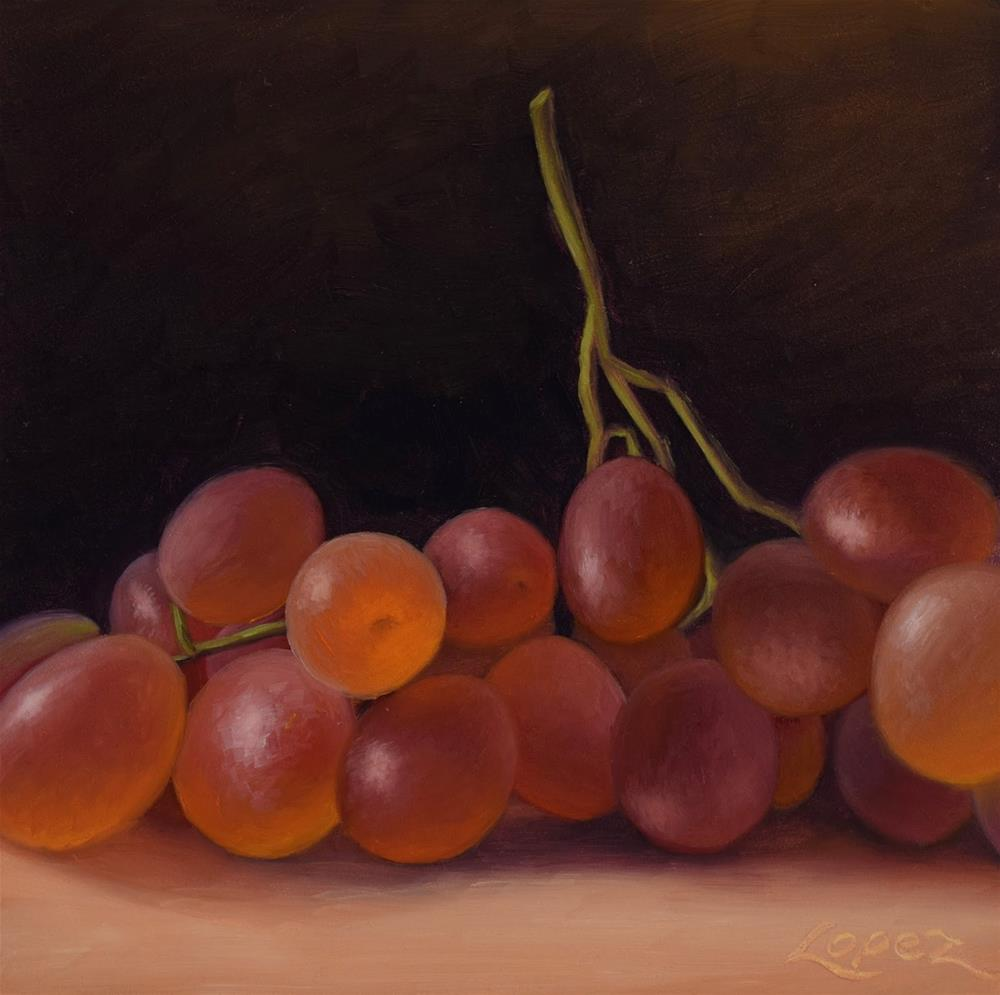 """17. Table Grapes"" original fine art by Gema Lopez"