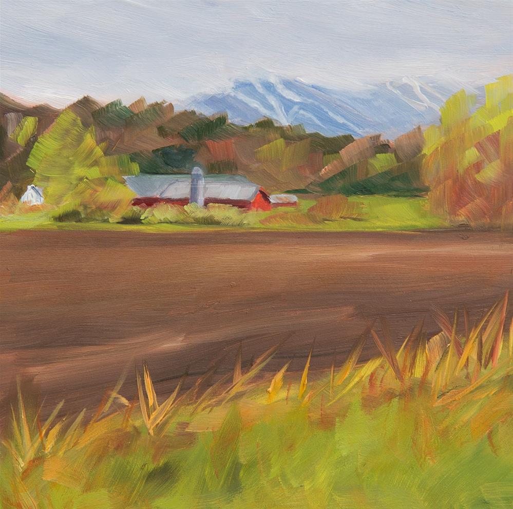 """#14 - Spring - Percy Farm - Stowe, VT"" original fine art by Sara Gray"