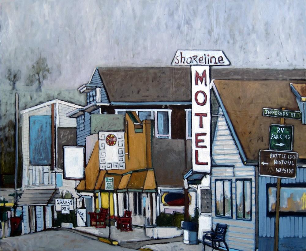 """Shoreline Motel"" original fine art by Teresa Haag"