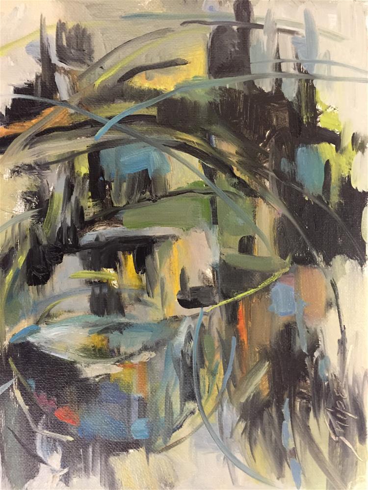 """""""Bird Nest, Day 28"""" original fine art by Connie Snipes"""