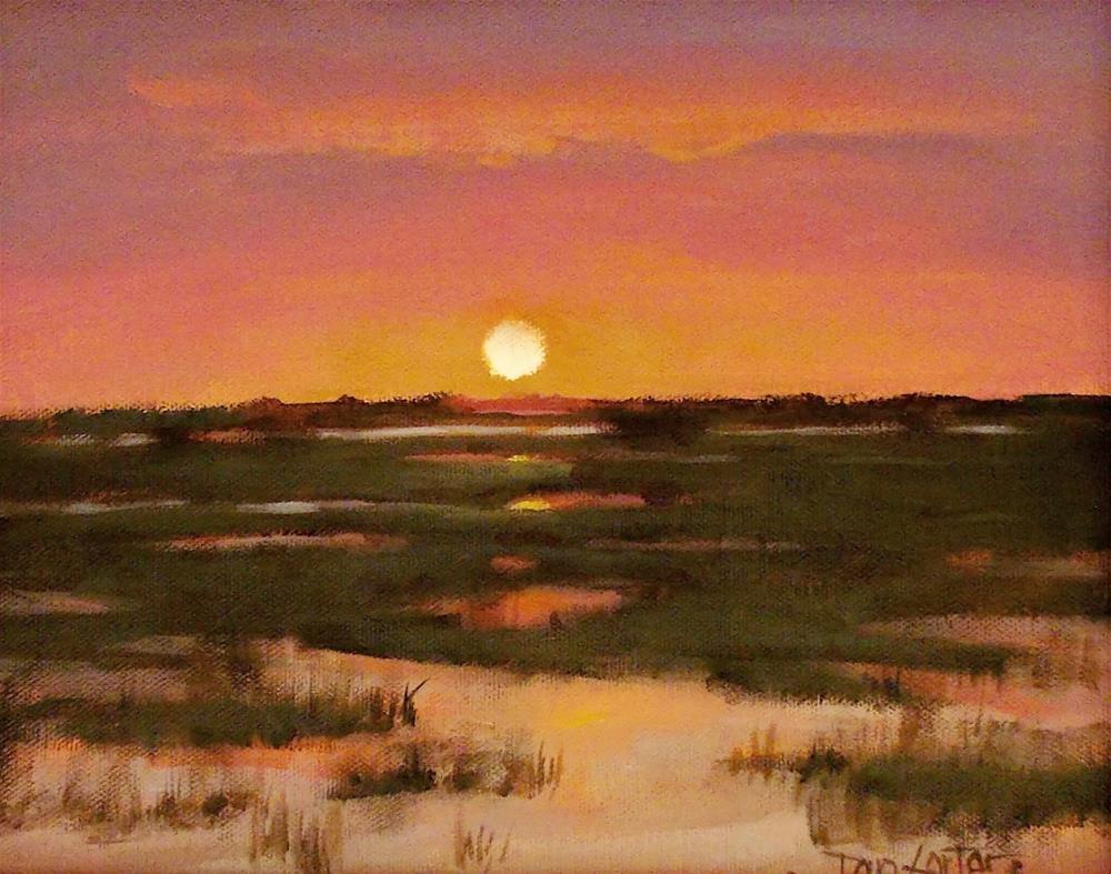 """"""" High Tide Sunset """" original fine art by Doug Carter"""