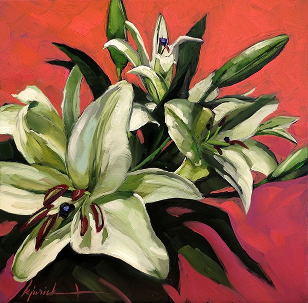"""Easter Lilies"" original fine art by Karin Jurick"