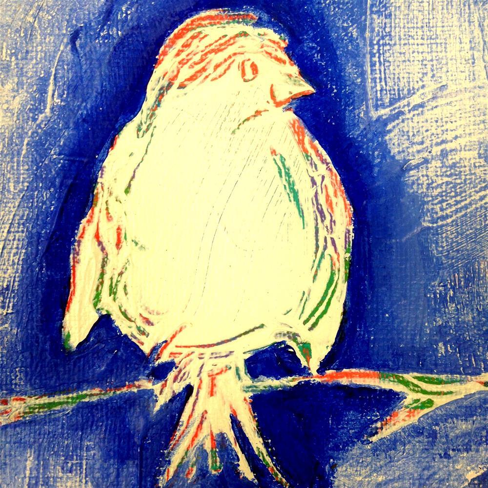 """Sitting Pretty"" original fine art by Nicole Saunders"