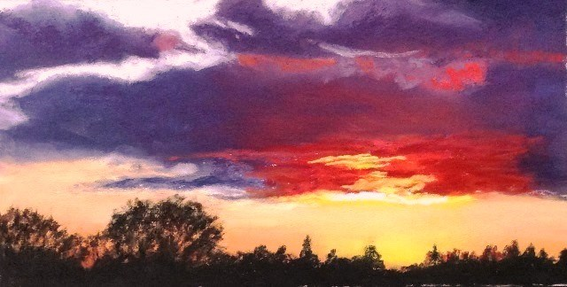 """Valley Sunset"" original fine art by Marti Walker"