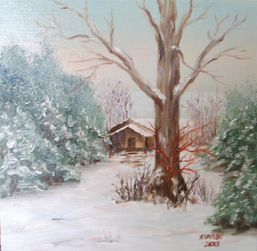 """Dreaming of a White Christmas"" original fine art by Lynn Darby"