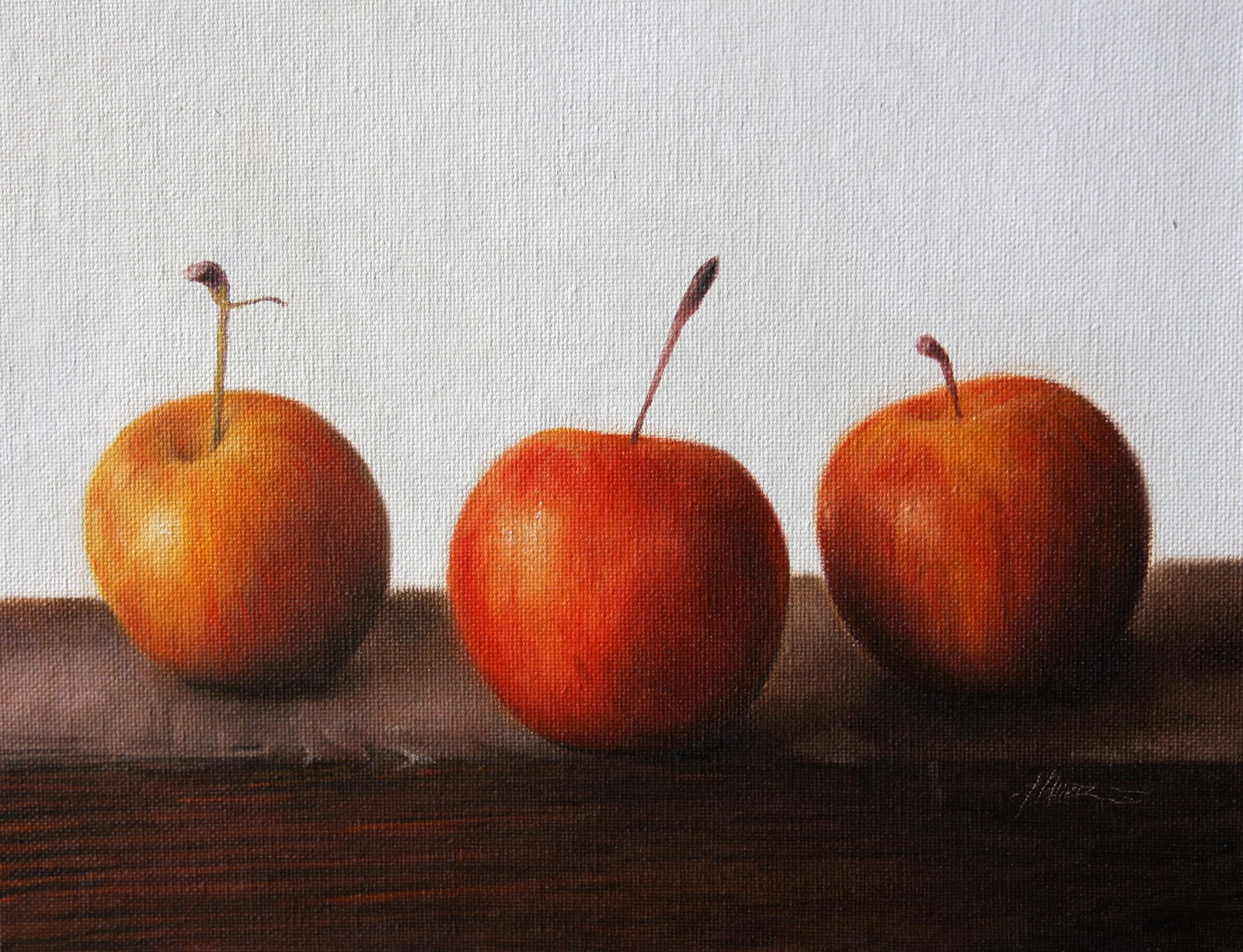 """Chestnut Crab Apples II"" original fine art by Jonathan Aller"