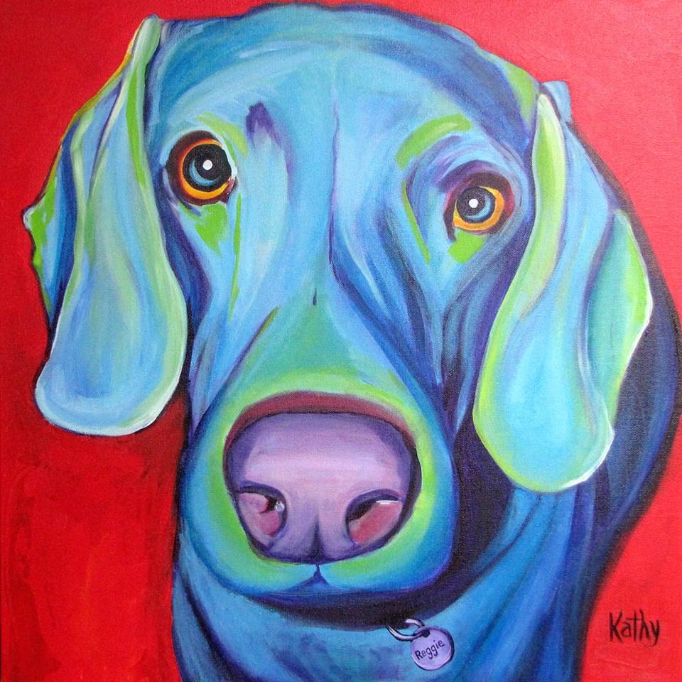 """Reggie"" original fine art by Katherine Hambley"