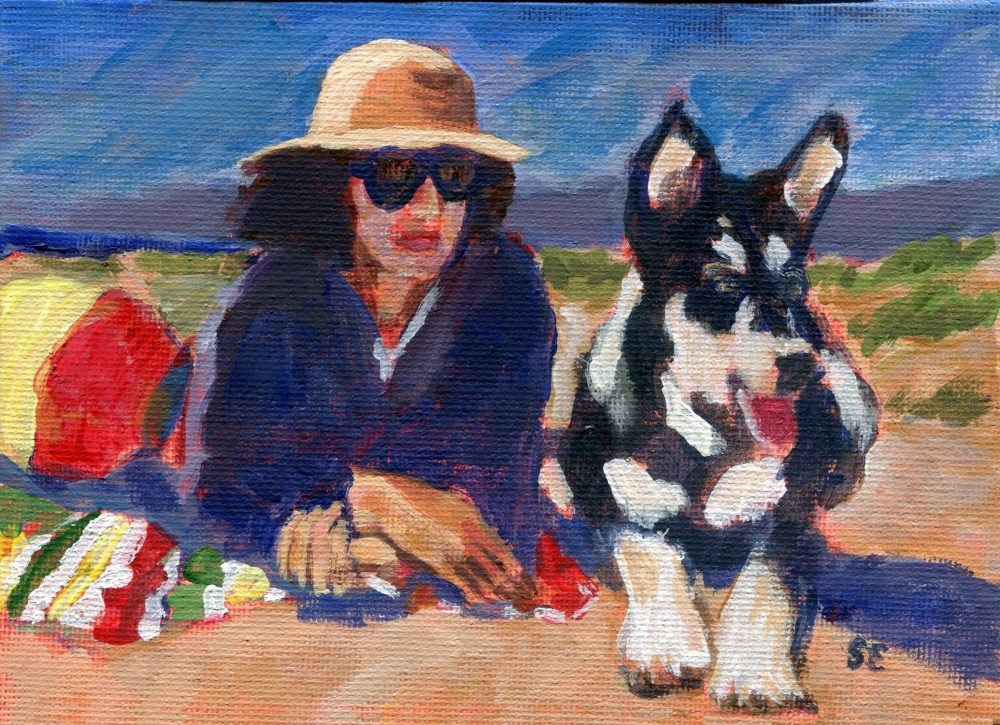 """Beach Patrol"" original fine art by Stanley Epperson"