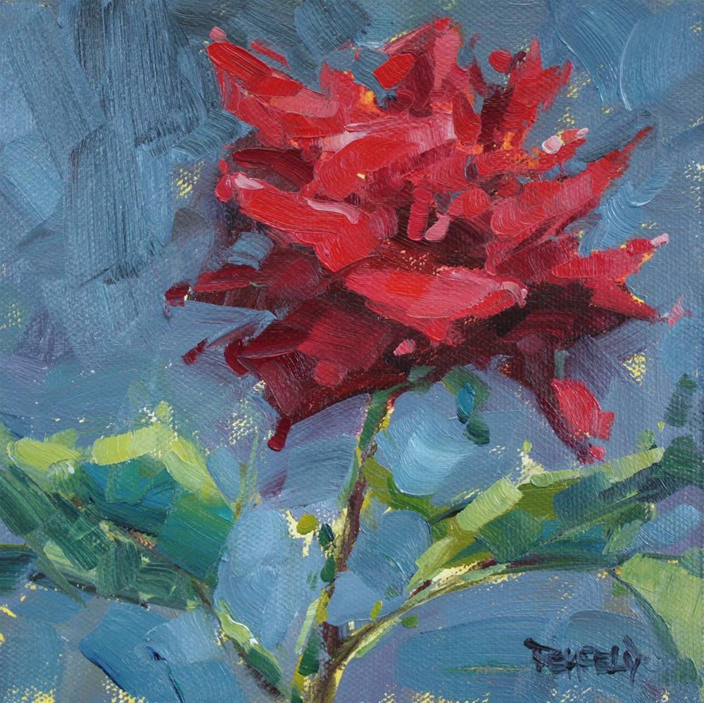 A Rose From My Garden original fine art by Cathleen Rehfeld