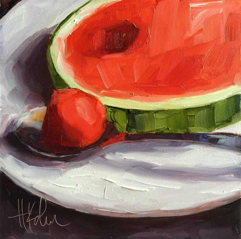 """Mini Melon 1"" original fine art by Hallie Kohn"