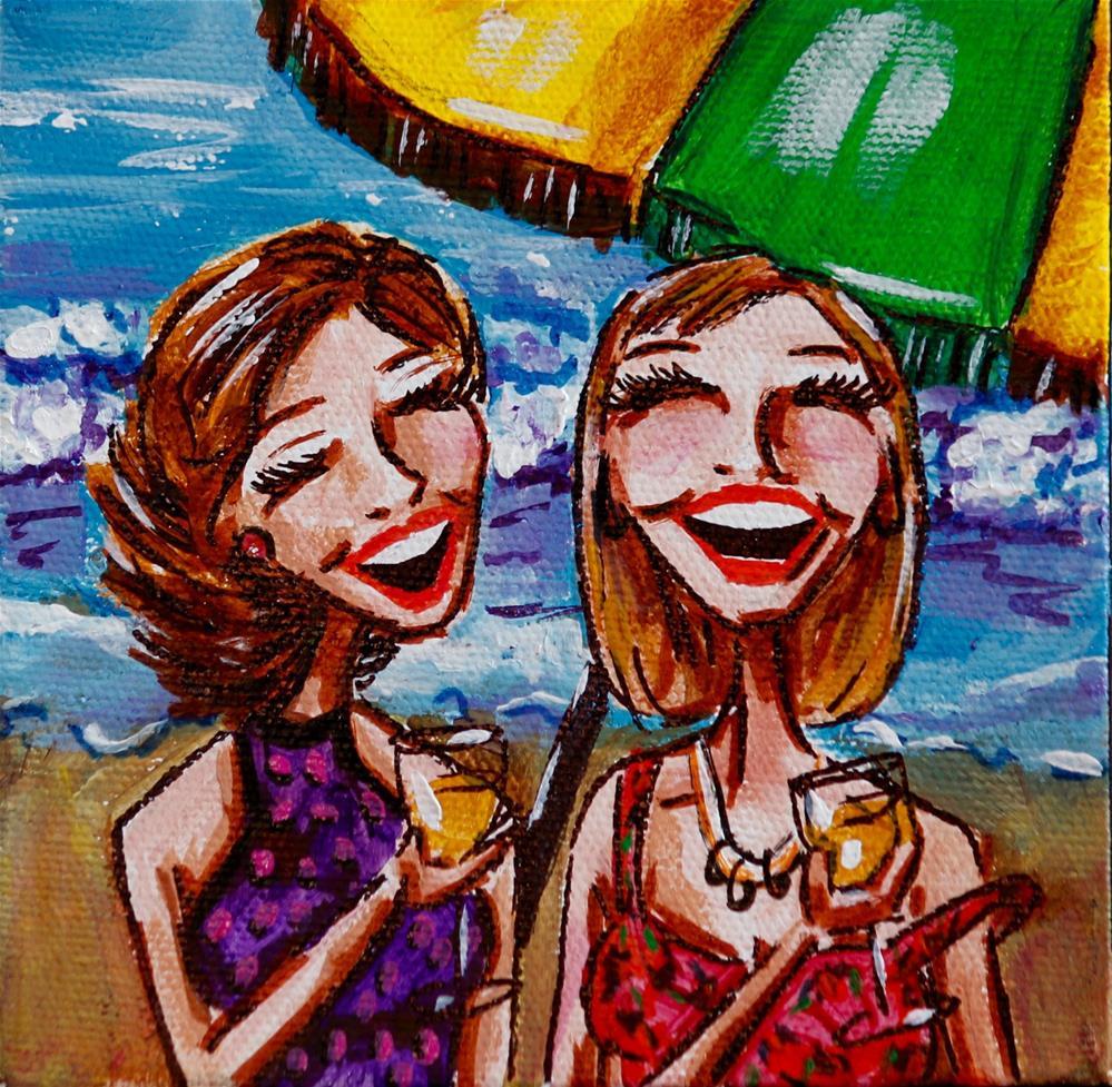 """Boobs & Booze 55"" original fine art by Jennifer Koach"