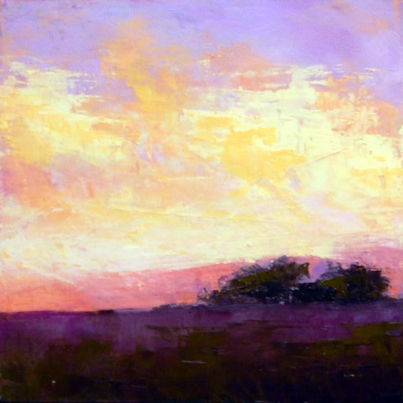 """""""Western Glow"""" original fine art by Carolyn Caldwell"""