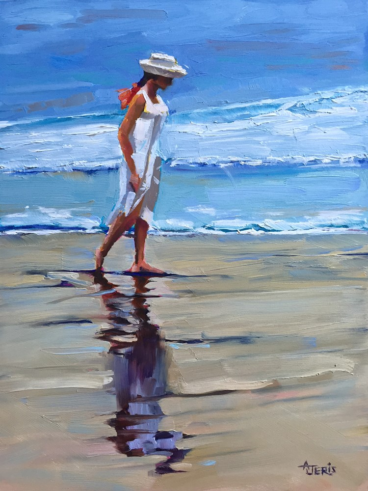 """Sandy Walk"" original fine art by Andrea Jeris"