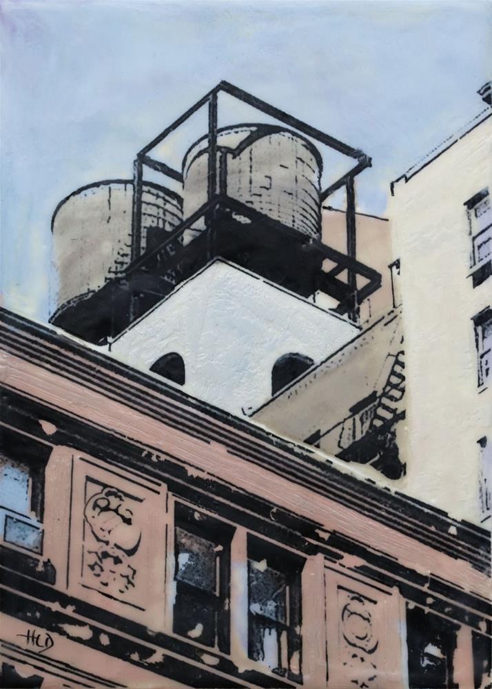 """Manhattan Water Towers"" original fine art by Heather Douglas"