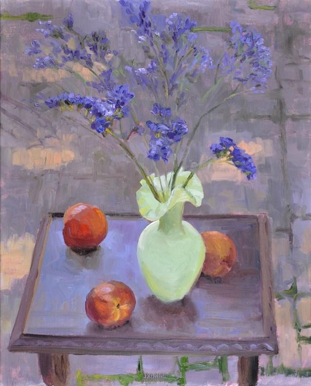 """Peaches & Purple"" original fine art by Scott Harding"