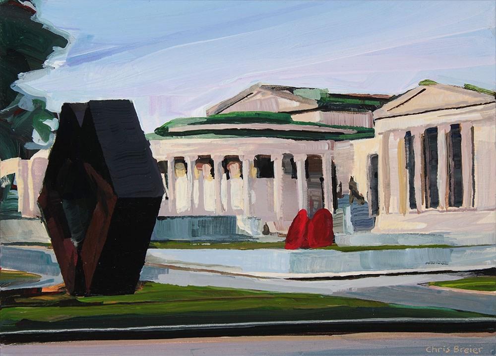 """""""Albright Knox"""" original fine art by Chris  Breier"""