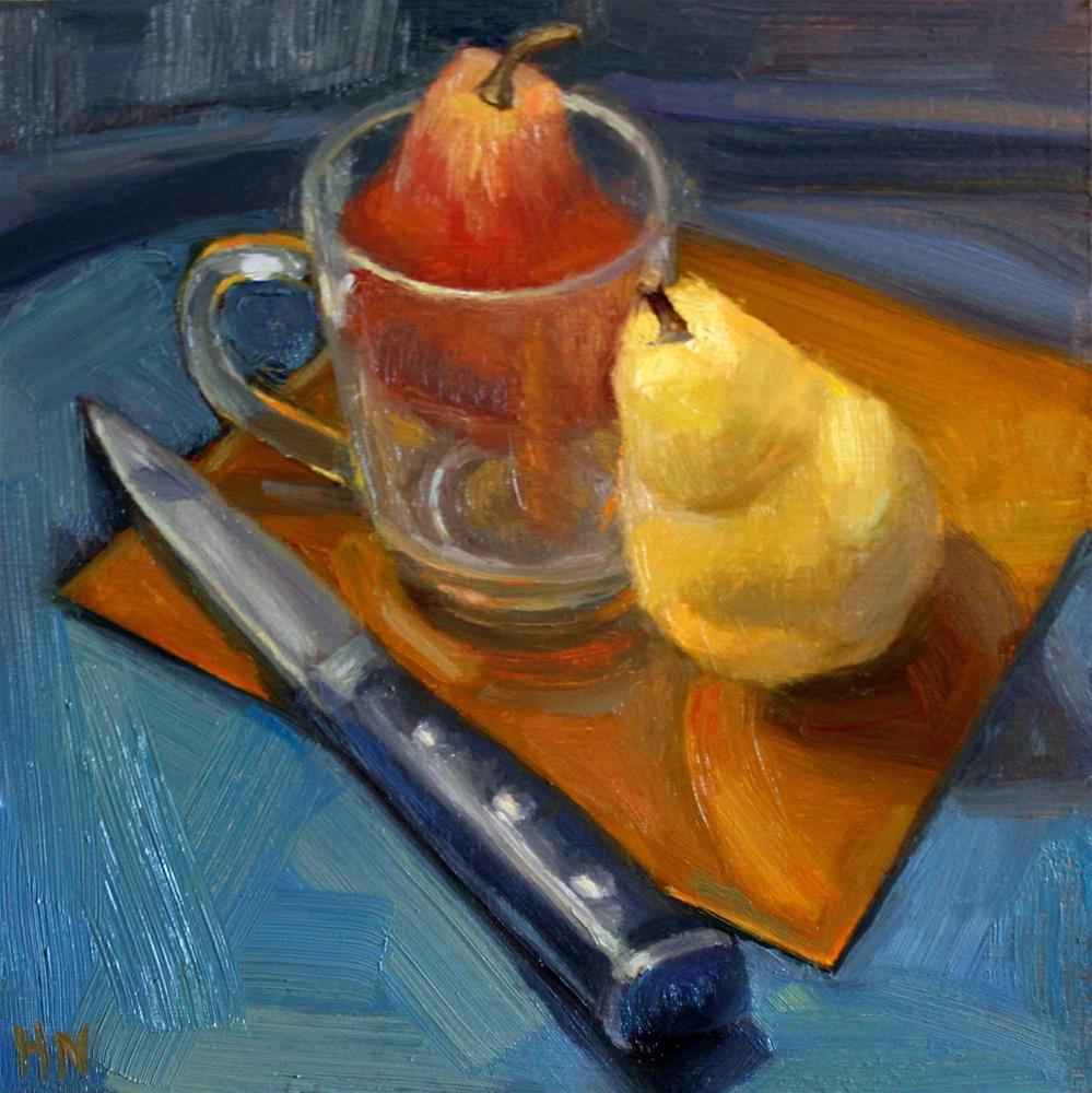 """Pair of Pears"" original fine art by Heather Nibert"