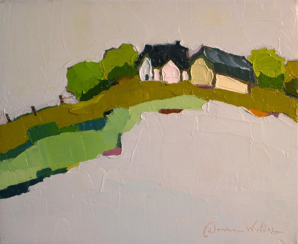 """Hilltop Solace II"" original fine art by Donna Walker"