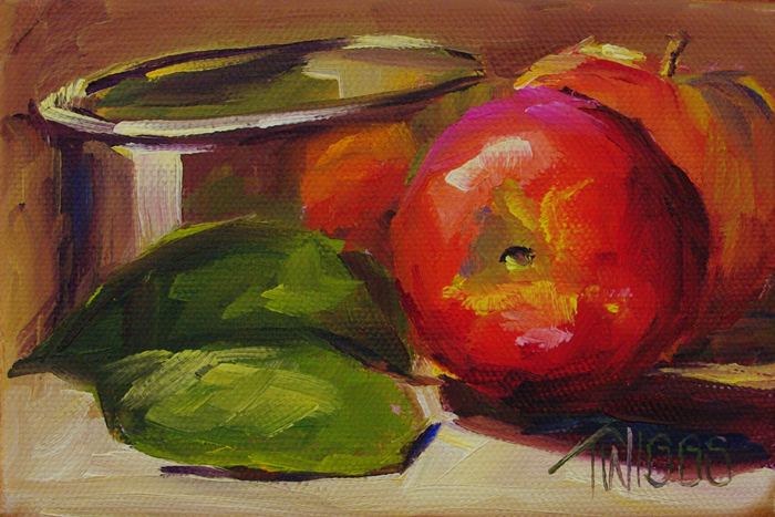 """Early Apples"" original fine art by Lori Twiggs"