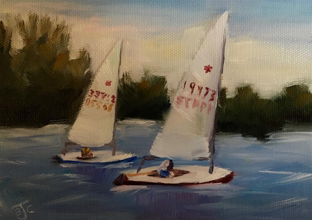 """Evening Regatta"" original fine art by Bobbie Cook"