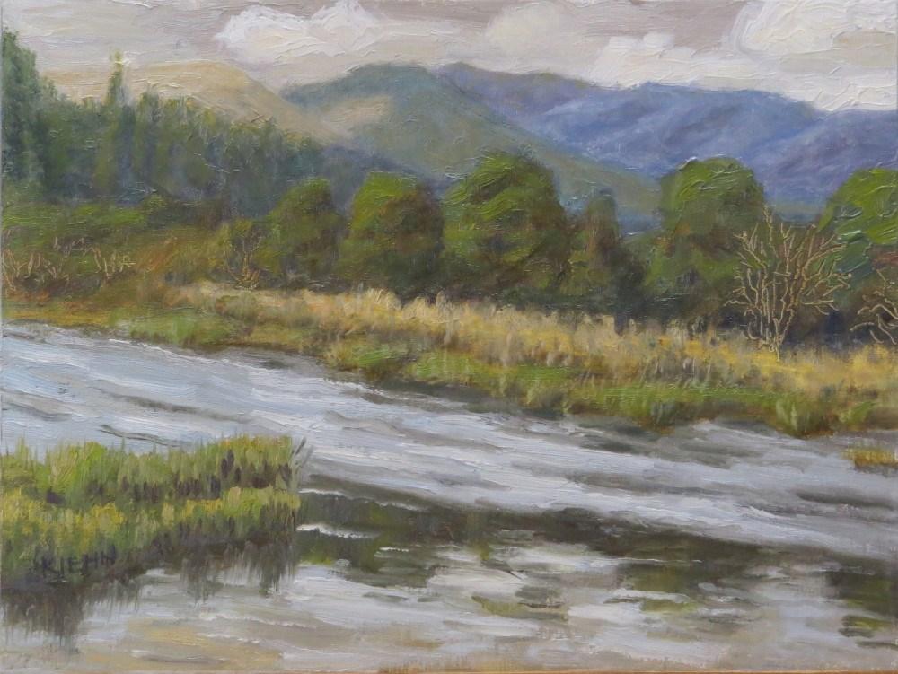 """A River Runs Through It"" original fine art by Richard Kiehn"