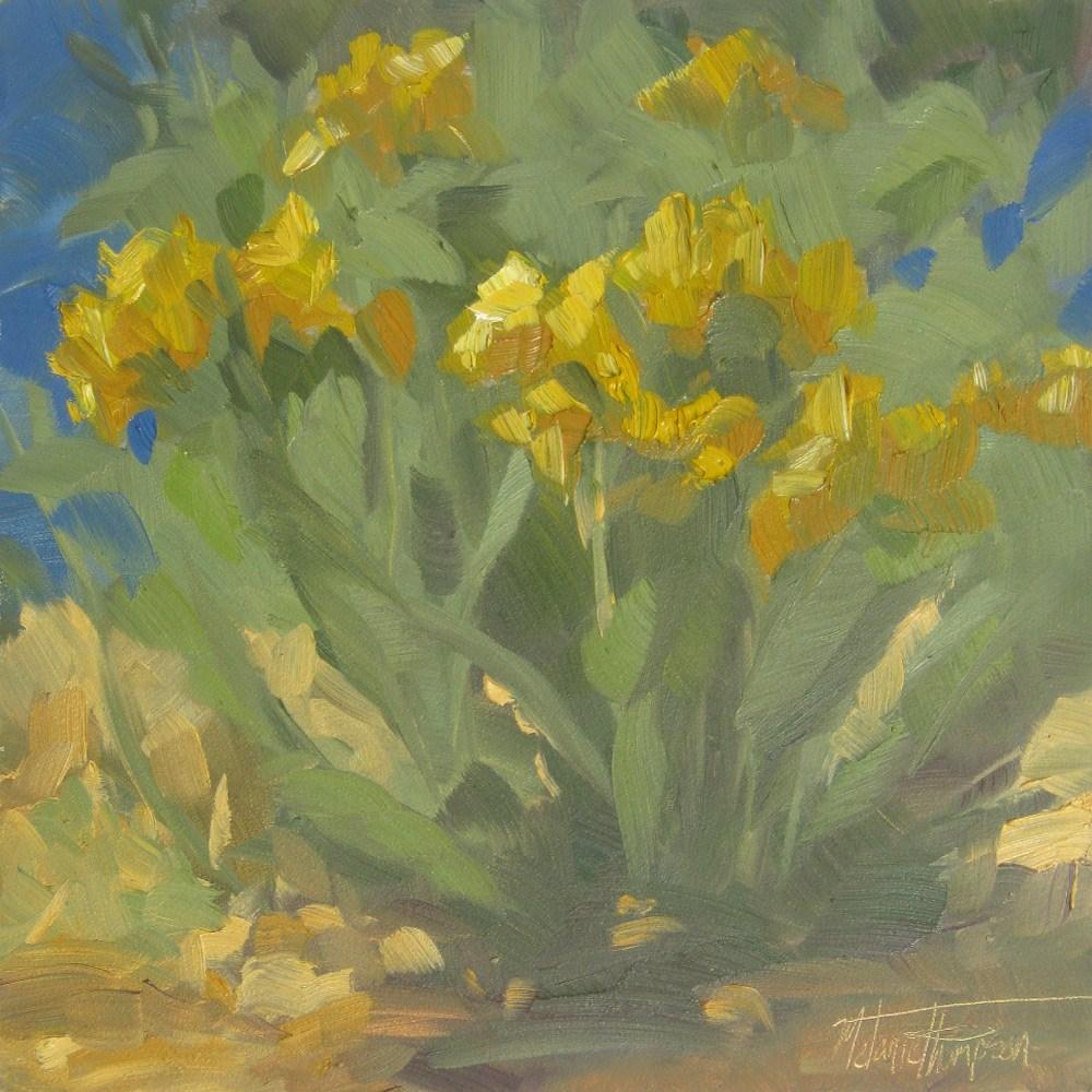 """Yakima River Blooms"" original fine art by Melanie Thompson"