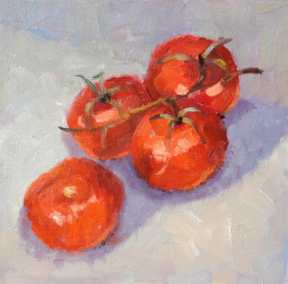 """Tomatoes"" original fine art by Mo Teeuw"