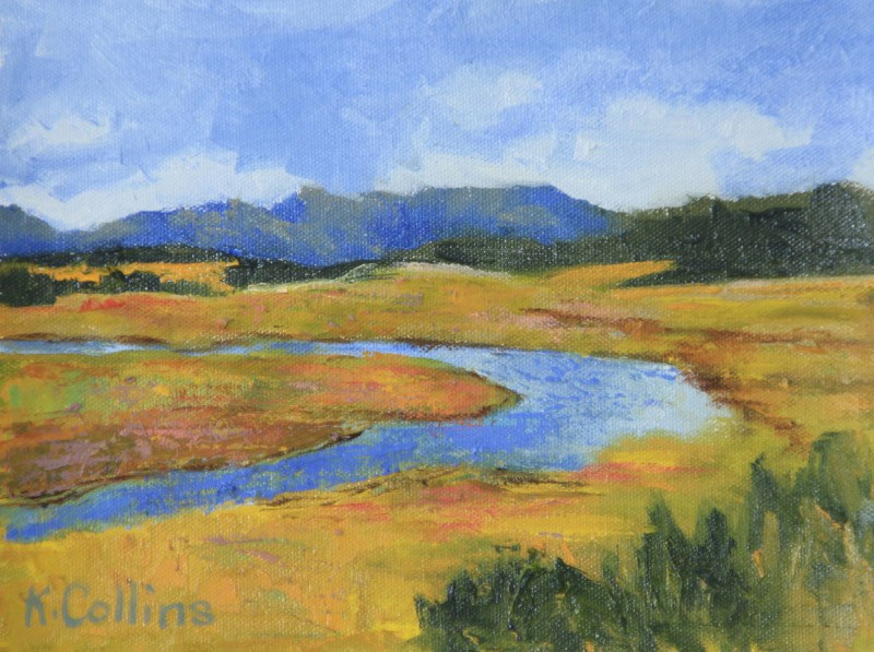 """Lamar River Valley"" original fine art by Kathy Collins"