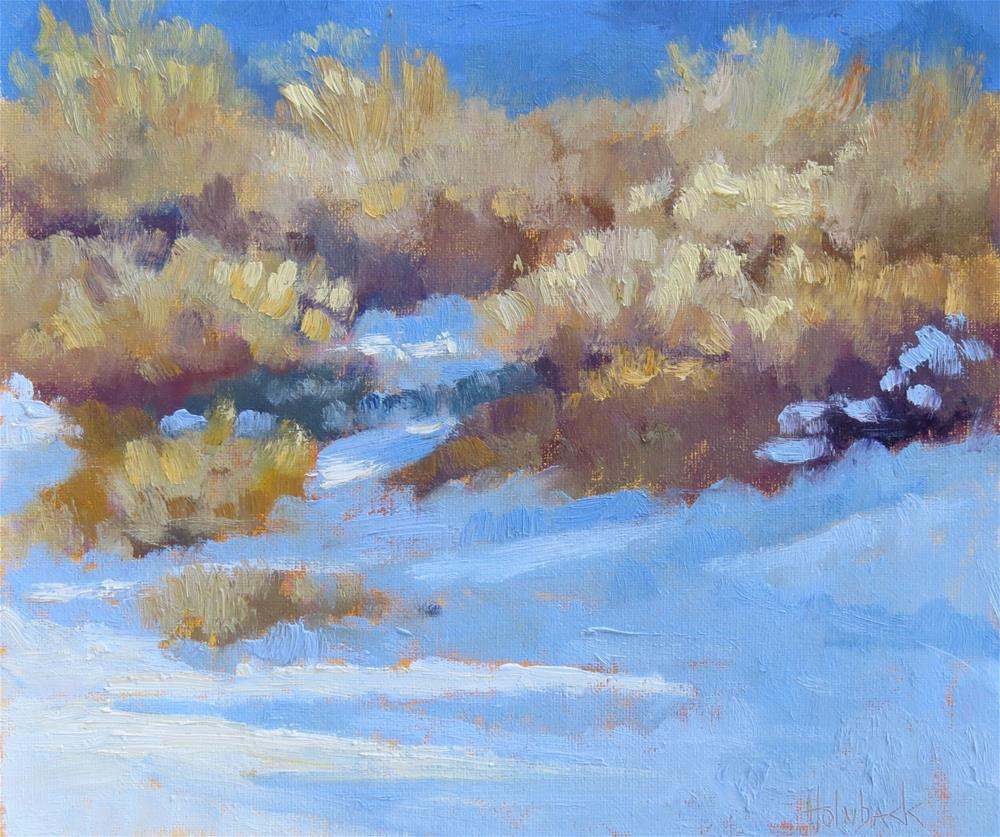 """Winter Light"" original fine art by Pam Holnback"