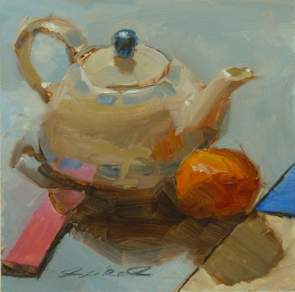 """Tea Pot & Pink Post-its"" original fine art by Ron Ferkol"