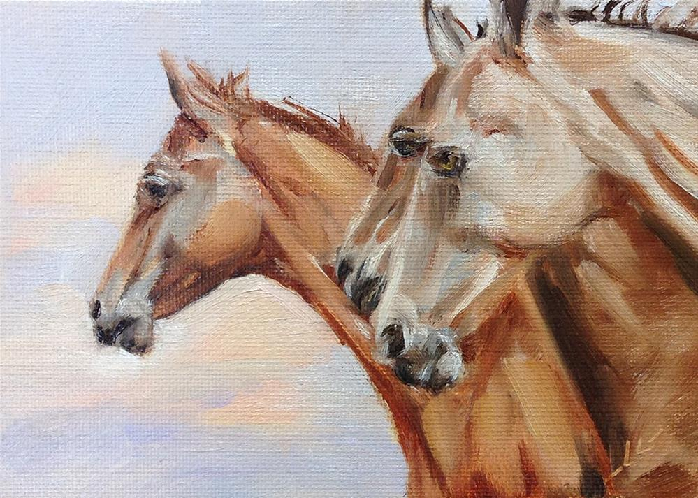 """Horse Sense"" original fine art by Linda Lowery"