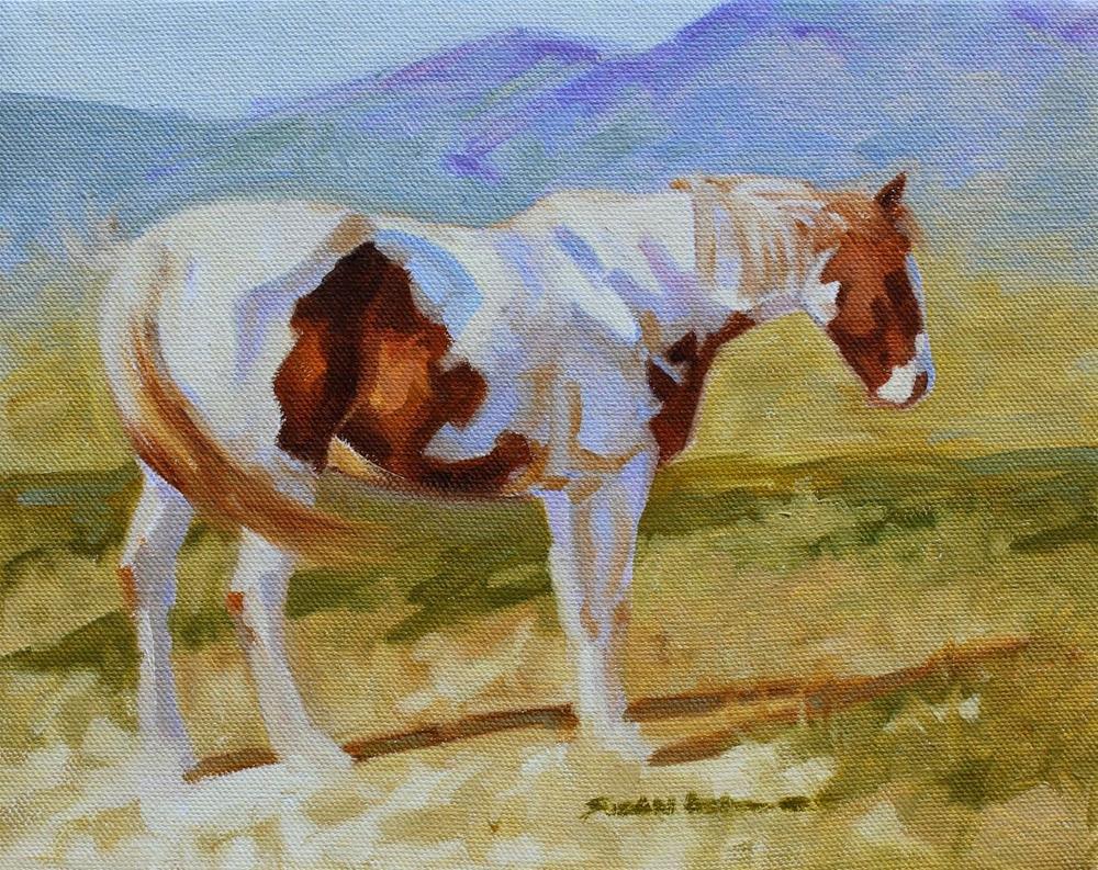 """Paint Mountains"" original fine art by Susan Ashmore"