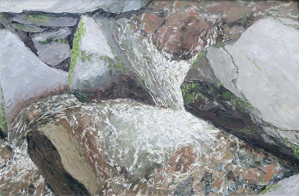 """Rocks & Water II"" original fine art by Greg Arens"