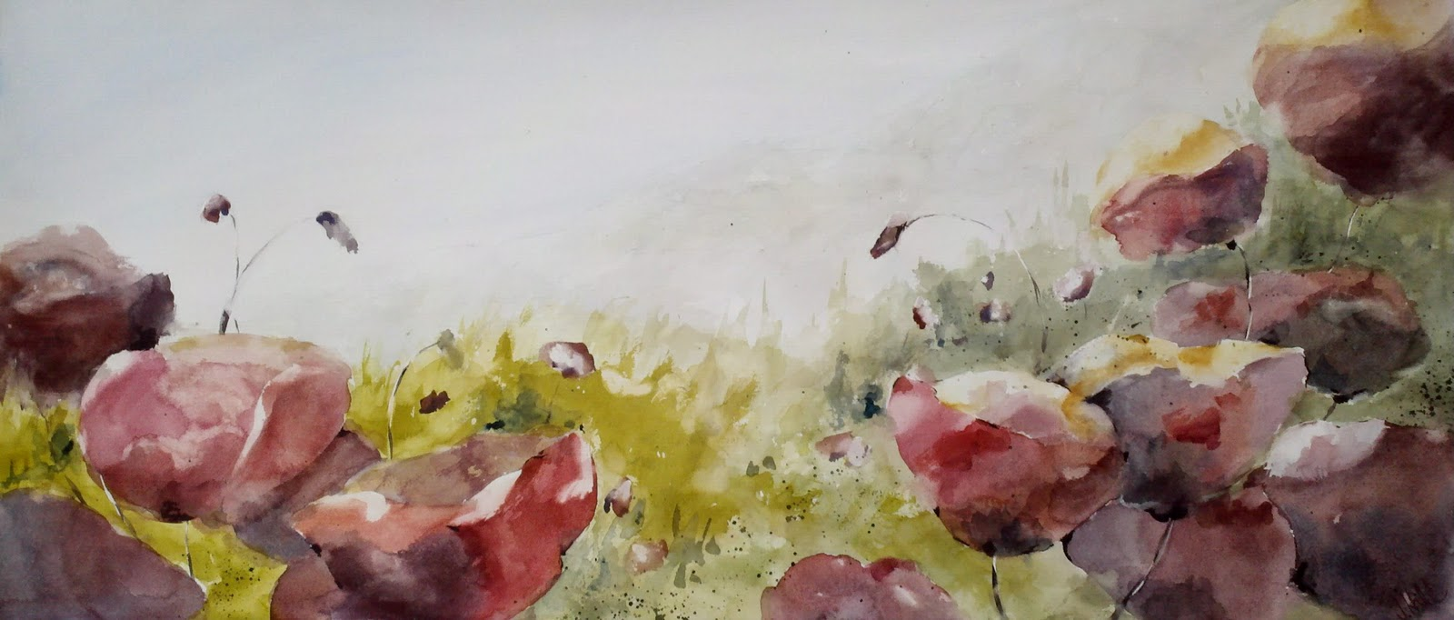 Poppies Galore! original fine art by Julie Hill