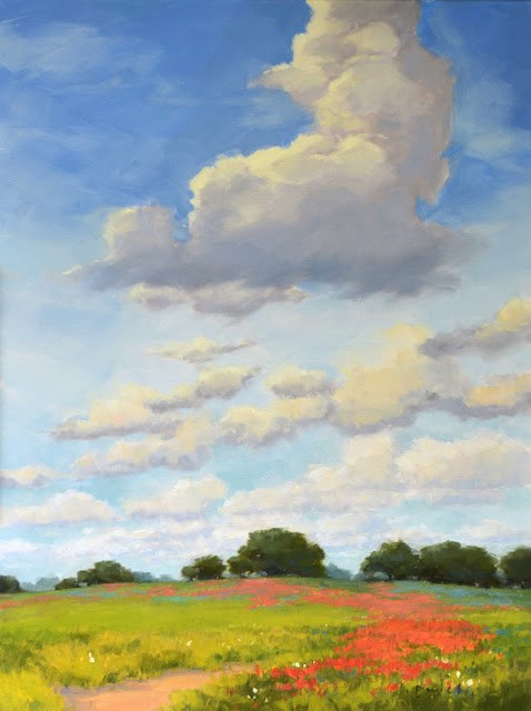 """Hilltop Skies"" original fine art by Laurel Daniel"