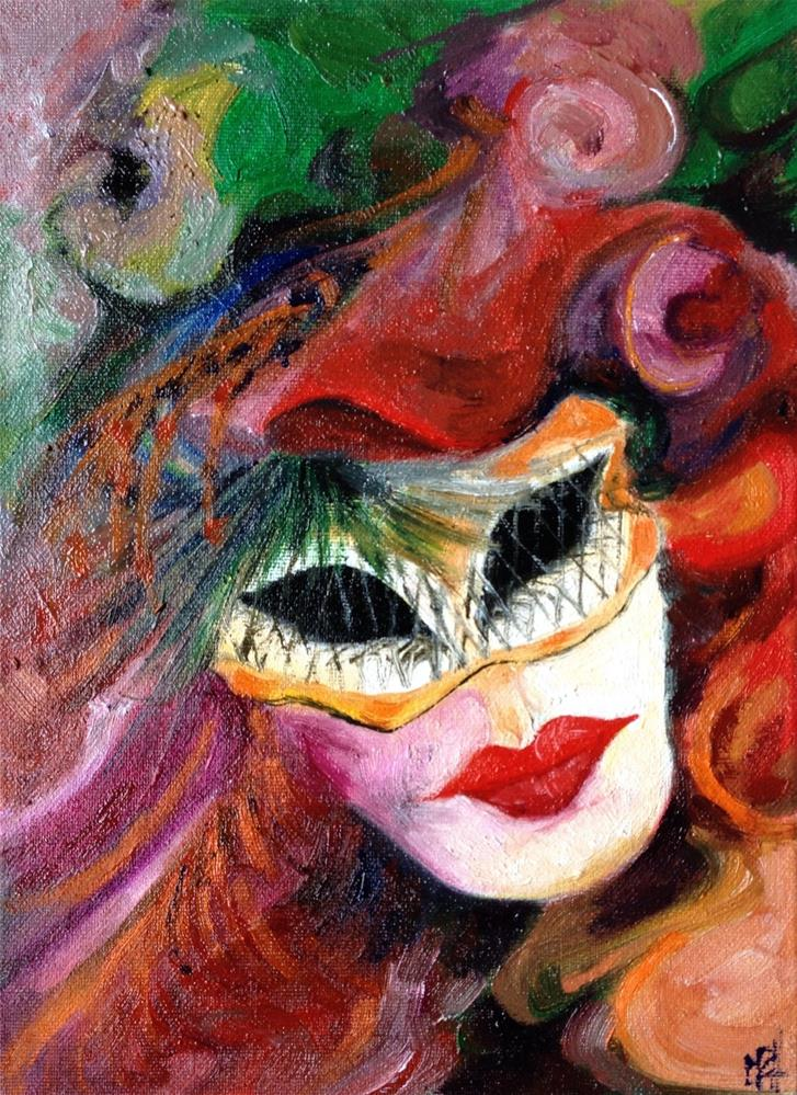"""The mask"" original fine art by Monica Pinotti"